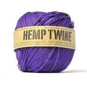 Hemp fiber cord . deep purple . 20 yards . 100% natural . string . gift wrap ties . supplies . gift tag . amethyst